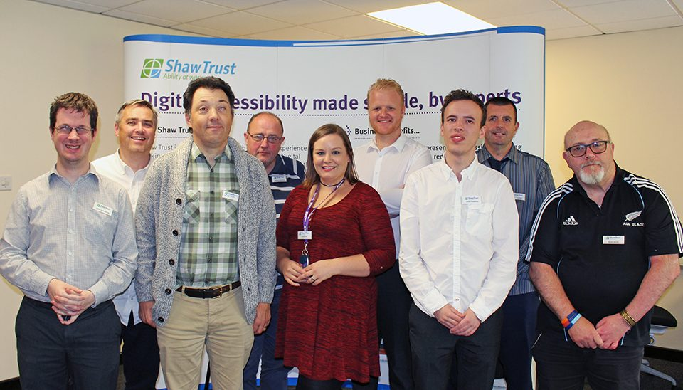 Shaw Trust Accessibility services team