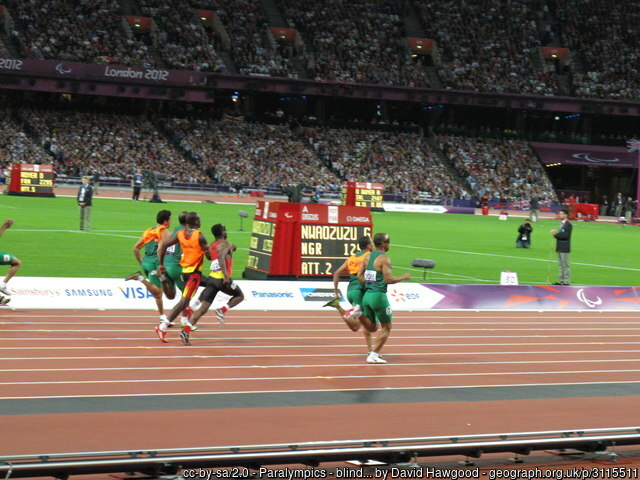 Runners in the Paralympics